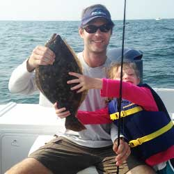 21 Inch Fluke High Hook On LBI Off Shore Trip