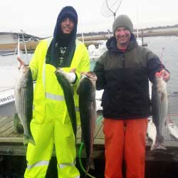 Rainy Rough Trip Ends With Boat Limit Of LBI Stripers