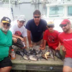 Sea Bass Limit And 4 LBI Triggerfish Landed