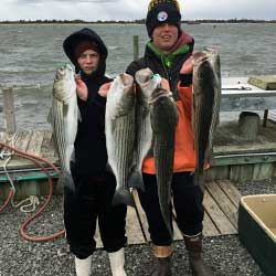 Bad Weather Great LBI Striper Fishing
