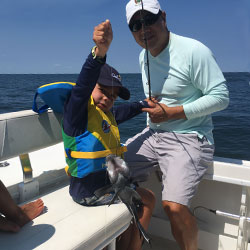 First Ocean Fishing Trip Hooks 9 LBI Sea Bass