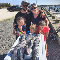 Kids Had A Great Time Catching The Boart Limit Of LBI Sea Bass