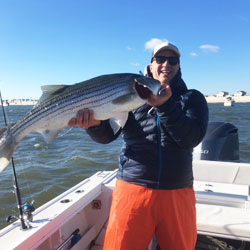 28 Pound LBI Striper Tops For The Day