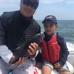 Bouncy Day Boys Take Home 19 Sea Bass and 2 Ling