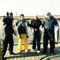 36 Inch Striped Bass Boated At Barnegat Light
